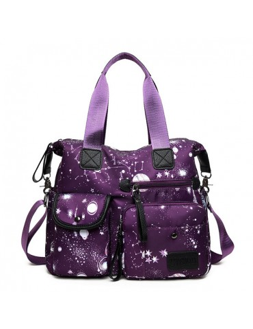 Nylon Large-capacity Starry Sky Pattern Shoulder Bag Handbag For Women
