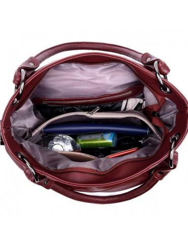 Genuine Leather Tassel Pendant Plaid Handbag Crossbody Bag For Women