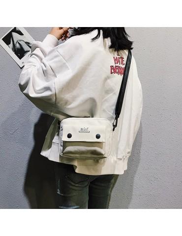 Women Canvas Hip-hop Mini Shoulder Bag Crossbody Bag