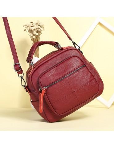 Vintage PU Leather Handbag Shoulder Bags Crossbody Bag For Women