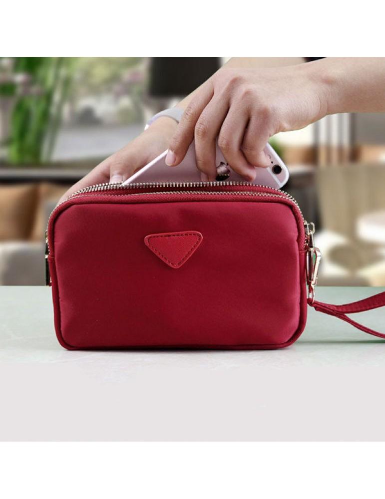 Women Water Resistant Multi-slot Clutch Bags Nylon Solid Mini Crossbody Bags