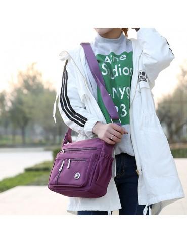 Multi-pocket Nylon Waterproof 5 Colors Shoulder Bags Casual Lightweight Crossbody Bags