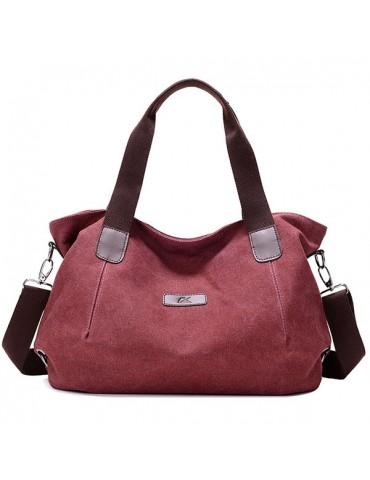 Women Canvas Large Capacity Shoulder Bags Handbags Casual Crossbody Bags