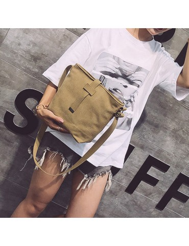 Women Canvas Vintage Large Capacity Shoulder Bag Crossbody Bag