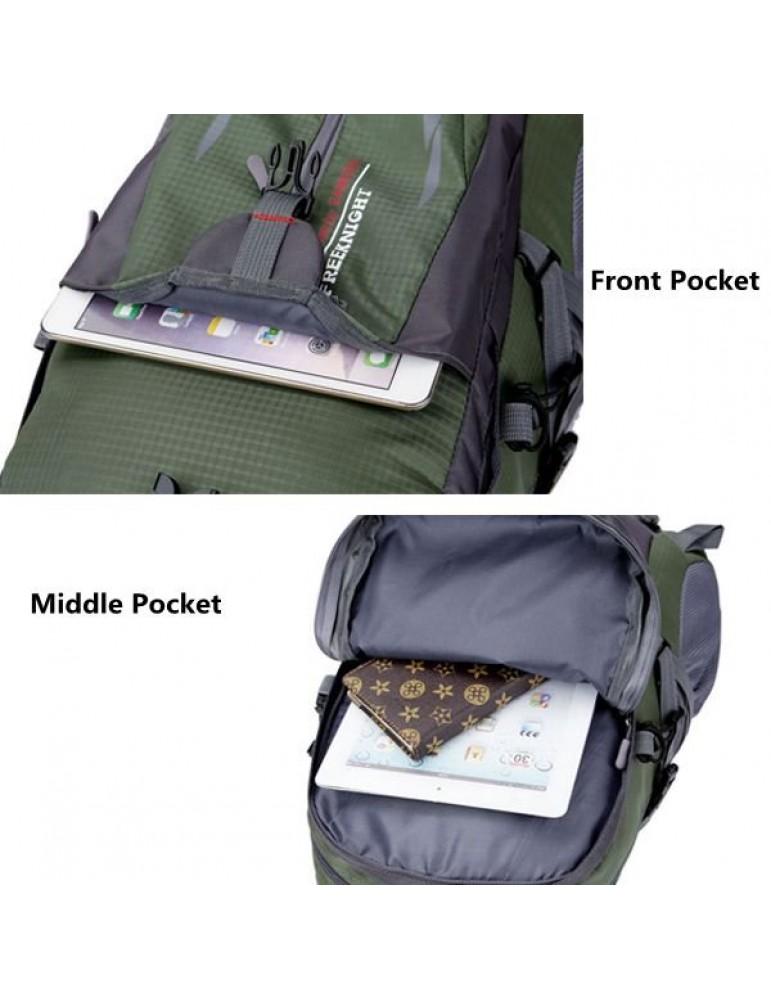 40L Big Capacity Travel Backpack Waterproof Nylon Outdoor Backpack For Women Men