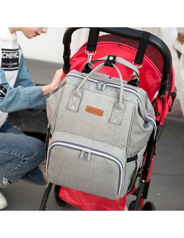 USB Charging Port Women Oxford Multi-functional Waterproof Diaper Bags Backpack Shoulder Bags
