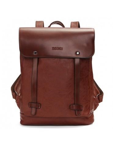 Men Women Vintage Backpack PU Leather Laptop bags School Bag Shoulder Bags
