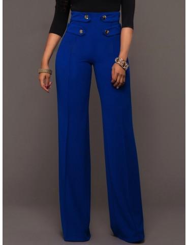 Casual Solid Color Women Wide Leg Pants