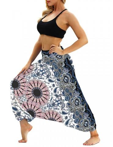 Bohemian Drop-crotch High Waist Beautiful Yoga Pants